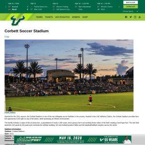 Corbett Soccer Stadium website screenshot