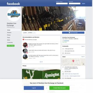 Stockton Gun Exchange website screenshot