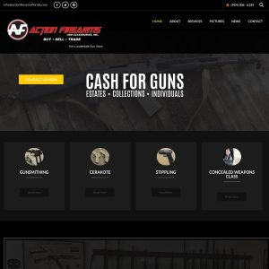 Action Firearms and Accessories website screenshot