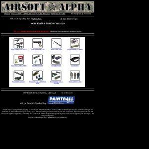 Airsoft Alpha website screenshot