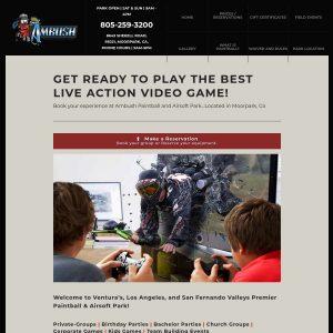 Ambush Paintball Park website screenshot