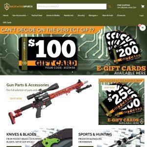 Backwood Sports website screenshot