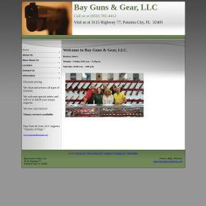 Bay Guns & Gear website screenshot