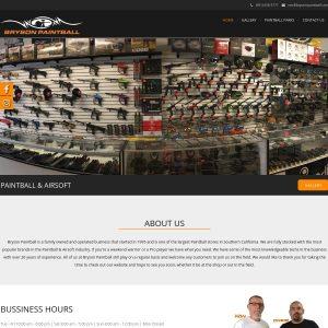 Bryson Paintball website screenshot