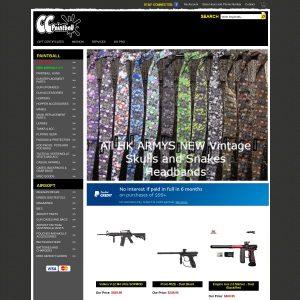 CC Paintball website screenshot