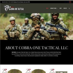 Cobra One Tactical LLC website screenshot
