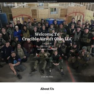 Crucible Airsoft Ohio website screenshot