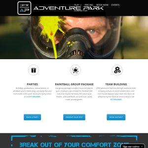 DFW Adventure Park website screenshot