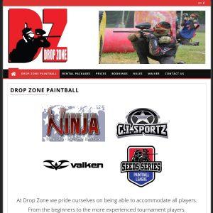 Drop Zone Paintball & Airsoft Park website screenshot