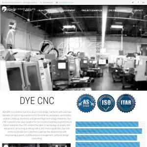 DYE Paintball website screenshot