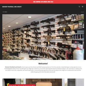 Eminent Paintball website screenshot
