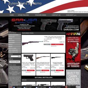 Euless Guns & Ammo website screenshot