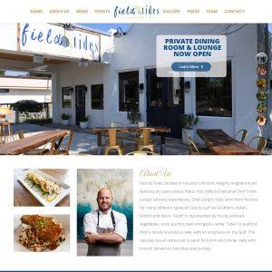 Field & Tides website screenshot