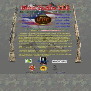 Guns Galore LLC website screenshot