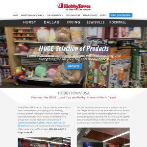 Hobby Town USA website screenshot