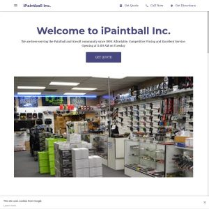 iPaintball Inc. website screenshot