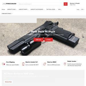 Jag Precision website screenshot