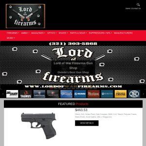 Lord Of War Firearms website screenshot