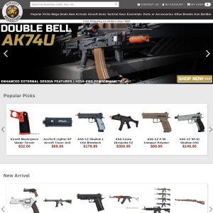 Airsoft Megastore website screenshot