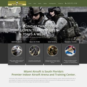 Miami Airsoft website screenshot