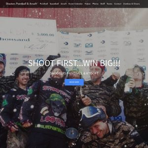 Shooters Paintball & Airsoft website screenshot