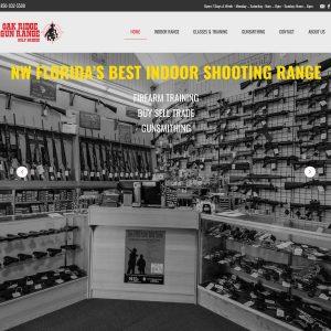 Oak Ridge Gun Range website screenshot
