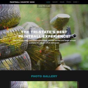 Paintball Country Ohio website screenshot