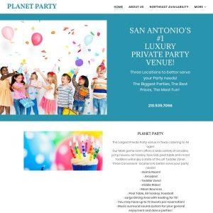 Planet Party website screenshot