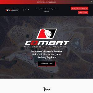 Combat Paintball Park website screenshot