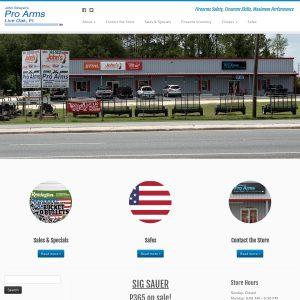 Pro Arms Inc. website screenshot