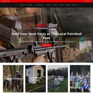 Quickshot Paintball website screenshot