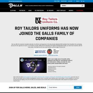 Roy Tailors Uniform Company website screenshot