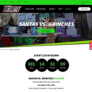 Velocity Paintball website screenshot