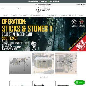 Simple Airsoft website screenshot