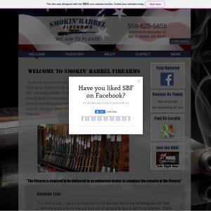 Smokin Barrel Firearms website screenshot