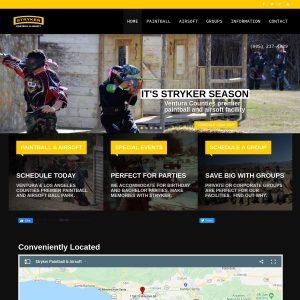 Stryker Paintball & Airsoft website screenshot