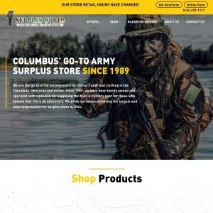 Surplus World Inc website screenshot
