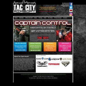 Tac City Airsoft website screenshot