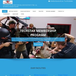 TechStar Airsoft website screenshot