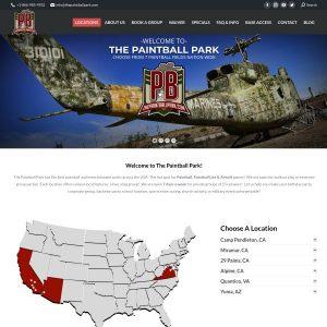 The Paintball Park at Camp Pendleton website screenshot