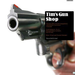 Tim's Gun Shop website screenshot
