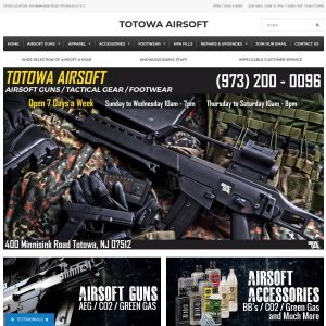 Totowa Airsoft website screenshot