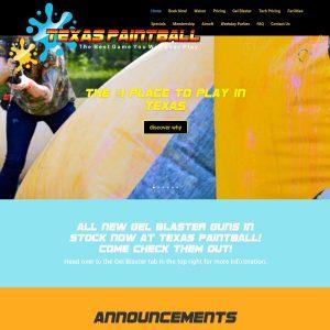 Texas Paintball website screenshot