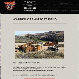 Warped Ops Airsoft Park website screenshot