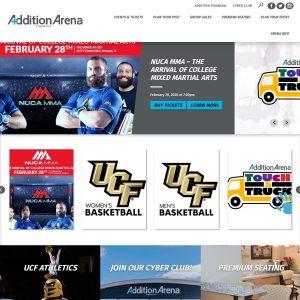 CFE Arena website screenshot