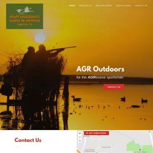 AGR Outdoors website screenshot