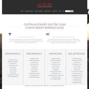 Airsoft Barracks website screenshot