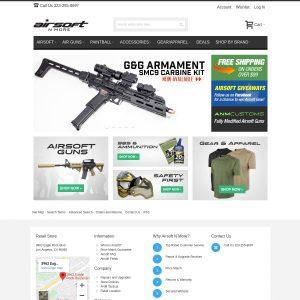 Airsoft N More website screenshot