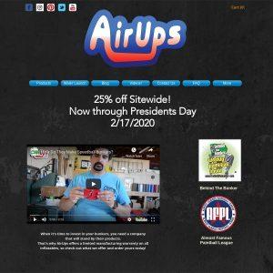 Airups website screenshot