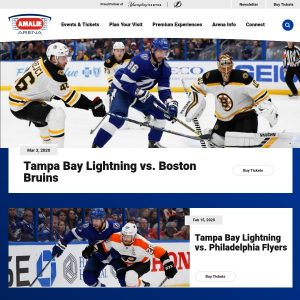 The Beach Tampa At The Amalie Arena website screenshot